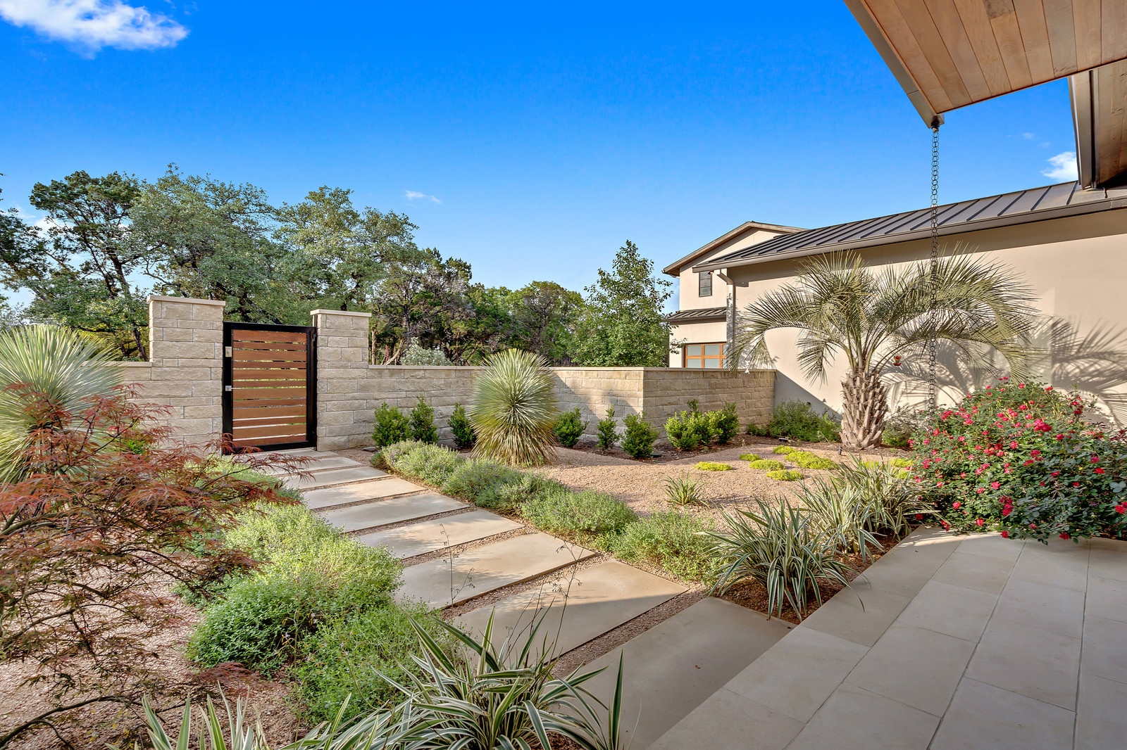 Front courtyard with native landscaping