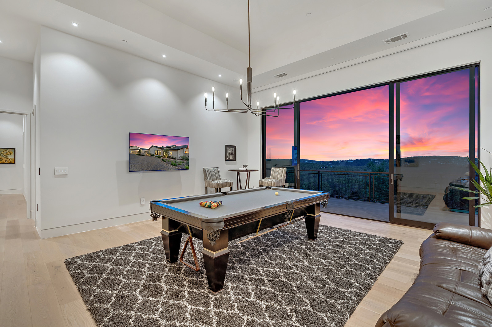 2nd family room makes a great game room or kids' space