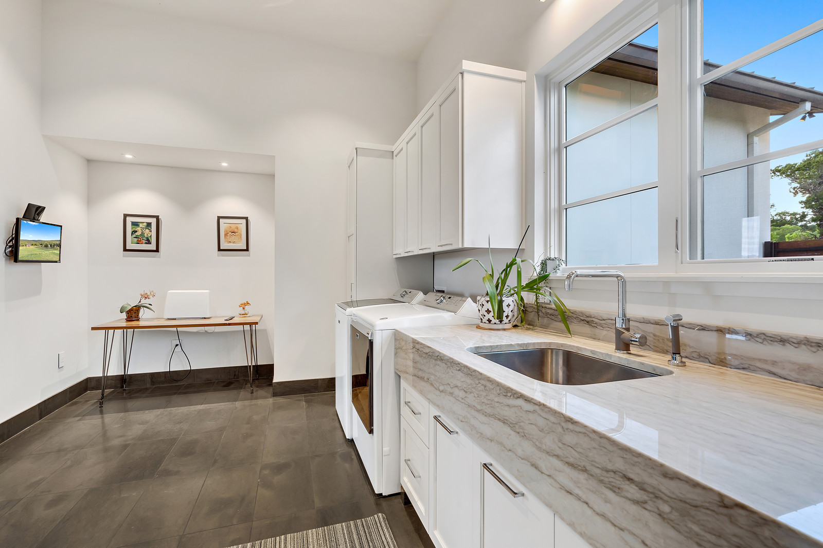 Even the laundry room is gorgeous and well-planned